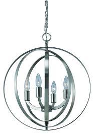com canarm ich182b04bn18 meridian 4 light chandelier brushed nickel home improvement