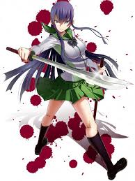 female anime characters with swords. Simple Characters Saeko In Female Anime Characters With Swords I