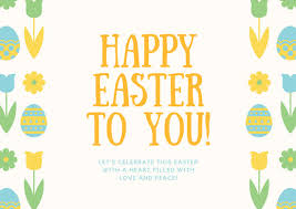 Easter Greeting Card Template Simple Customize 48 Easter Card Templates Online Canva