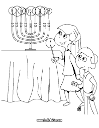 Small Picture Kids lighting the menorah coloring pages Hellokidscom