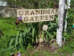 Decorative Metal Yard Signs Grandma's Garden Tin Yard Signs Rustic Iron Sign 58