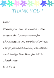 thank you letter template for kids christmas fun thank you letter template for kids