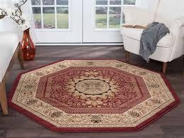 tayse rugs sensation jayden red octagon area rug tasns4670octa