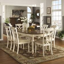 tribecca home shayne country antique two tone white 7 piece extending dining set overstock ping big s on tribecca home dining sets