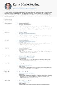 Humanities Teacher Resume samples