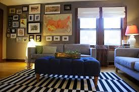 eclectic living room furniture. Living Room Impressive Modern Designs Calm Grey And Blue Color Furniture Striped Pattern Sofa Frames Decoration Eclectic