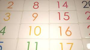 Preschool Number Chart 1 10 100 Laminated Rainbow Numbers Flashcards Preschool Kindergarten Numbers 1 100
