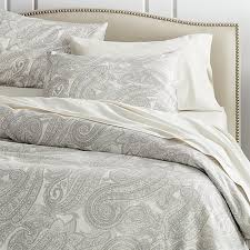 mariella cream grey duvet covers and pillow shams crate barrel latest gray bedding