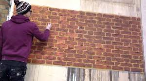 Painting Fake Brick Paneling Faux Brick Painting Youtube