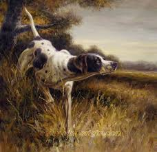 hunting dog oil painting 09