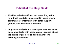 e mail at the help desk