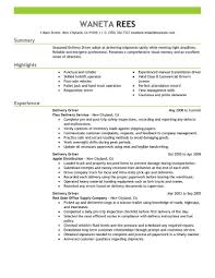 Home Delivery Driver Resume Examples Transportation Emphasis