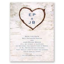 Carved In Love Save The Date Card Invitations By Dawn