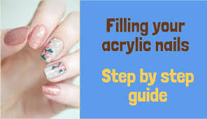 how to fill acrylic nails