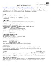 Examples Of Resumes Resume High School Example Basic Inside 81