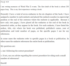 Endnotes References Answer Endnotes Procedure And Number Of References