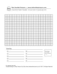 Downloadable Cross Stitch Graph Paper Templates Red Handled Scissors