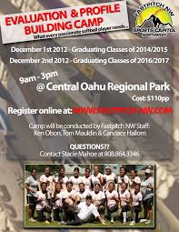 fastpitch nw evaluation and profile building camp in hawaii the camp flyer