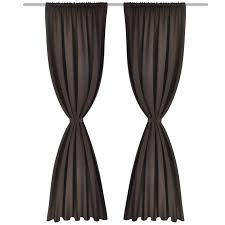 brown blackout curtains. 2 Pcs Brown Slot-Headed Blackout Curtains 53\ O