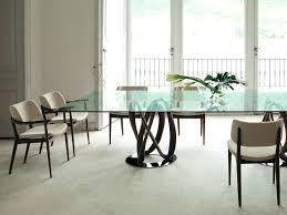 infinity rectangular glass dining table for 8
