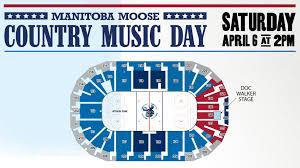 Manitoba Moose Seating Chart Country Music Day Manitoba Moose