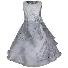 TiaoBug Embroidered Flower Girls Dress Sleeveless ... - Amazon.com