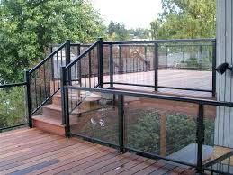 glass railing for decks deck glass railing how to railing systems for decks with black color