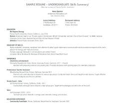 Sample Resume For College Graduate Delectable Sample Resume For College Students With No Work Experience