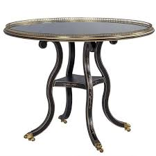 julia gray round silver leaf occasional table by baker for