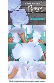 Pattern For Paper Flower Diy Giant Paper Flowers With Template 5 Steps My Online