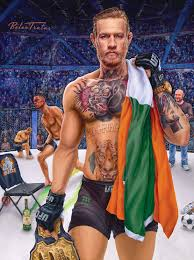 Painting Of Ufc Fighter Conor Mcgregor Celebrity Paintings In 2019