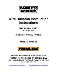 painless wiring harness instructions 36 wiring diagram images  at Http Www Jindiys Com 1977 1977 Ford Bronco Wiring Diagram