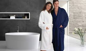 groupon linum terry spa bathrobe in multiple colors