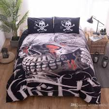 lannidaa 3d printed despair skull duvet cover set include bedspread pillowcase bedding set single double king size bed linen set comforters and duvet covers