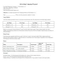Advertising Proposal Template Nonprofit And Marketing Plan Abstract ...