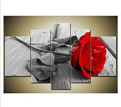hand painted modern beautiful wall art grey red rose canvas oil painting wall decor floral canvas wall art for home decor in painting calligraphy from  on grey red wall art with hand painted modern beautiful wall art grey red rose canvas oil