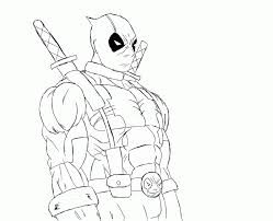 Small Picture Deadpool Coloring Sheets Coloring Home
