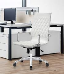 Off white office chair Leather Amazing Home Astonishing White Leather Office Chair Of Boss B9406 Black Or For Sale White Challengesofaging Minimalist White Leather Office Chair At Annie Retro High Back By