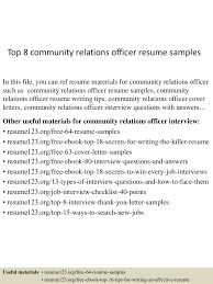 Community Relations Resume Top224communityrelationsofficerresumesamples2245052242402243506lva224app62249224thumbnail24jpgcb=224243224592553 14