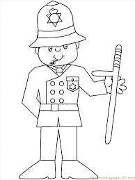 Police 07 Coloring Page Free Police Coloring Pages