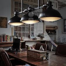 pendant lighting industrial style. Loft 3 Round Black Iron Pendant Lamps American Country Industrial Style Bar Lights Home Lighting G