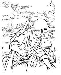 Free Printable Soldier Coloring Pages Lineart Patriotic Army