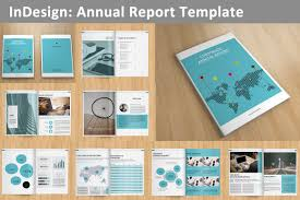Annual Report Template Annual Report V24 Brochure Templates Creative Market 1