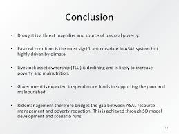 the role of risk management in pastoral policy evaluation and poverty conclusion