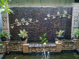 Attractive Outdoor Waterfall Wall | Home and Garden Ideas