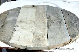 round reclaimed wood coffee table reclaimed pallet wood round coffee table top finished one more time