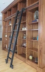 Custom Made Steel Rolling Library Ladder