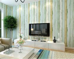 Beibehang Mediterranean Nonwoven Blue Wood Grain 3d Wallpaper