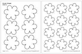 flower printable pictures. Wonderful Flower Flower Shapes Set 6 With Printable Pictures O