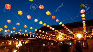 Light Up Paper Lanterns Paper Lanterns Lit Up At Bongeunsa Temple During Buddhas Birthday